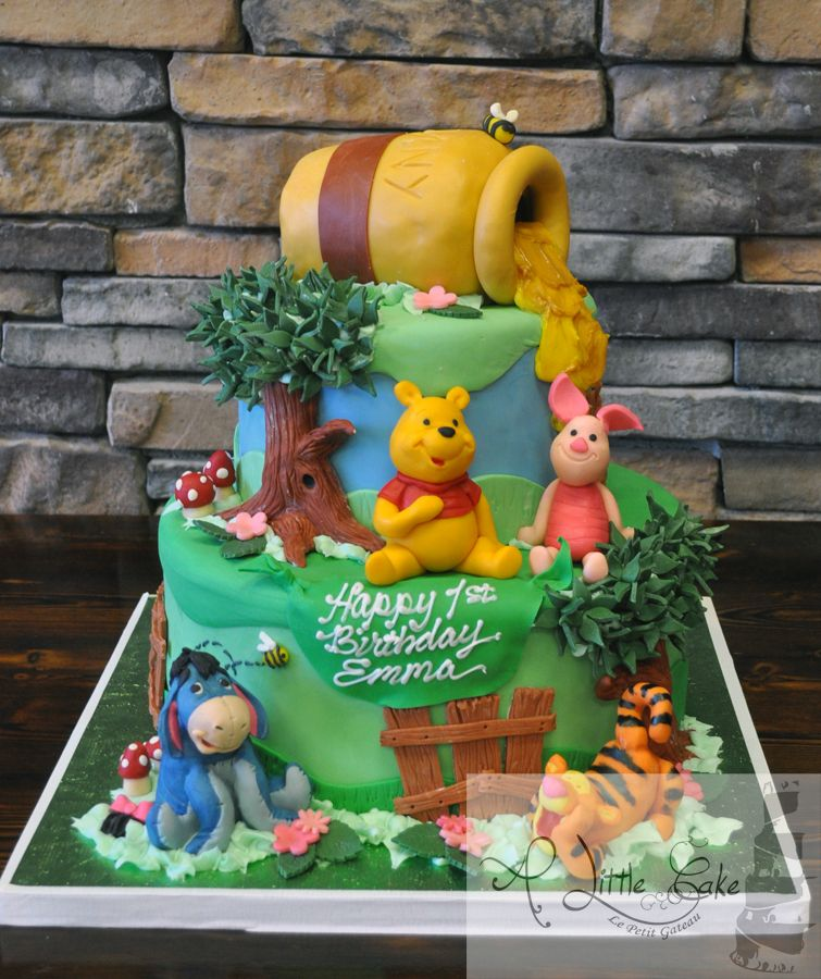 winniethepoohfirstbirthdaycake First Birthday Cake New Jersey