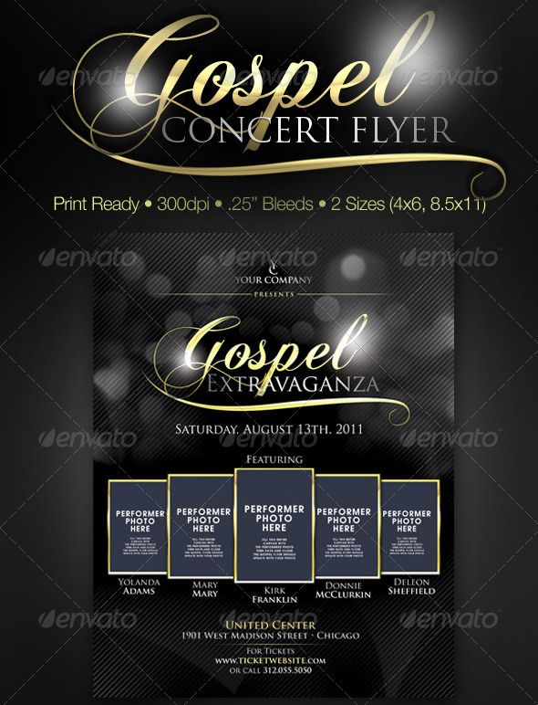 GospelConcertPosterDesign   Best Church Flyer Templates