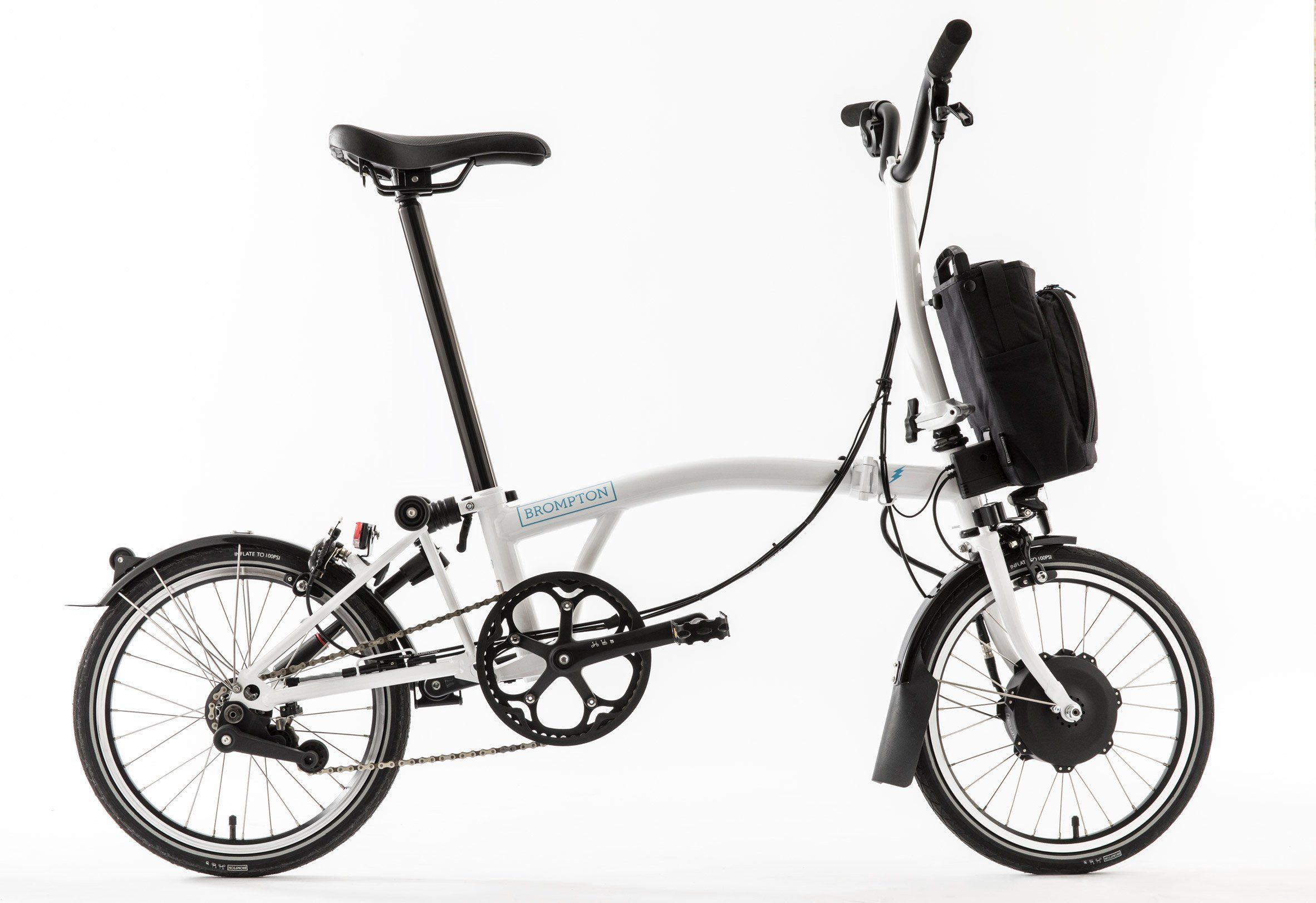 Brompton Launches First Battery Powered Version Of Its Folding Bike Folding Bike Brompton Electric Bike