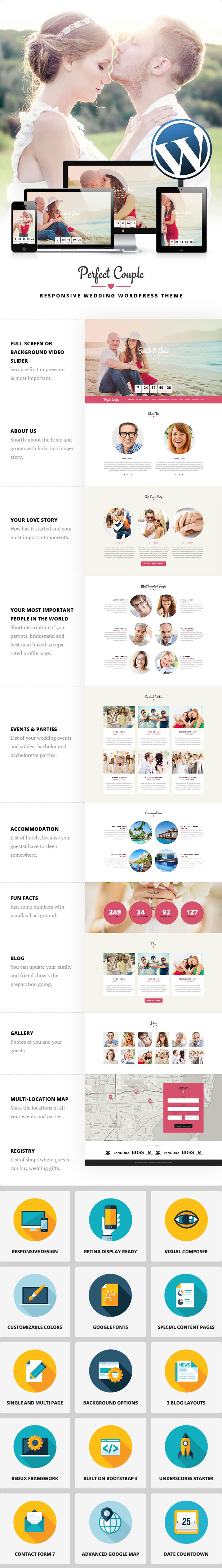 Perfect Couple - Wedding WordPress Theme | Perfect couple, Wordpress ...