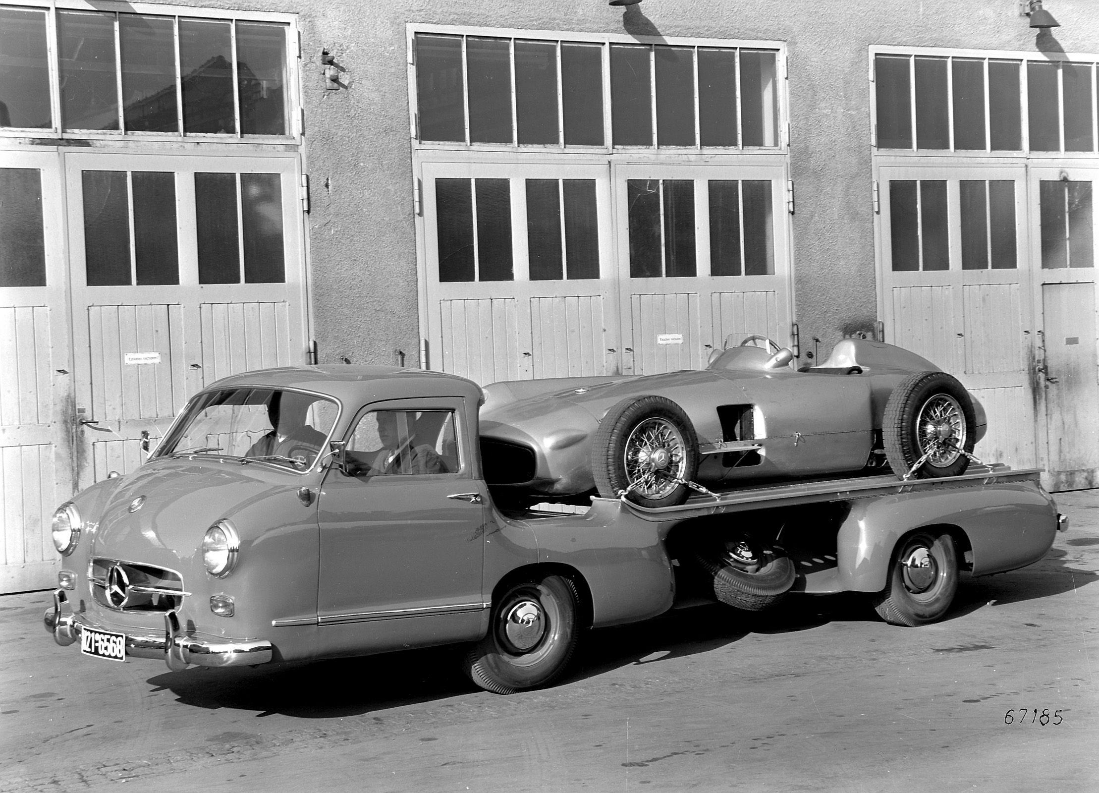 Mercedes Benz Renntransporter Blue Miracle 1954 1955 Mercedes
