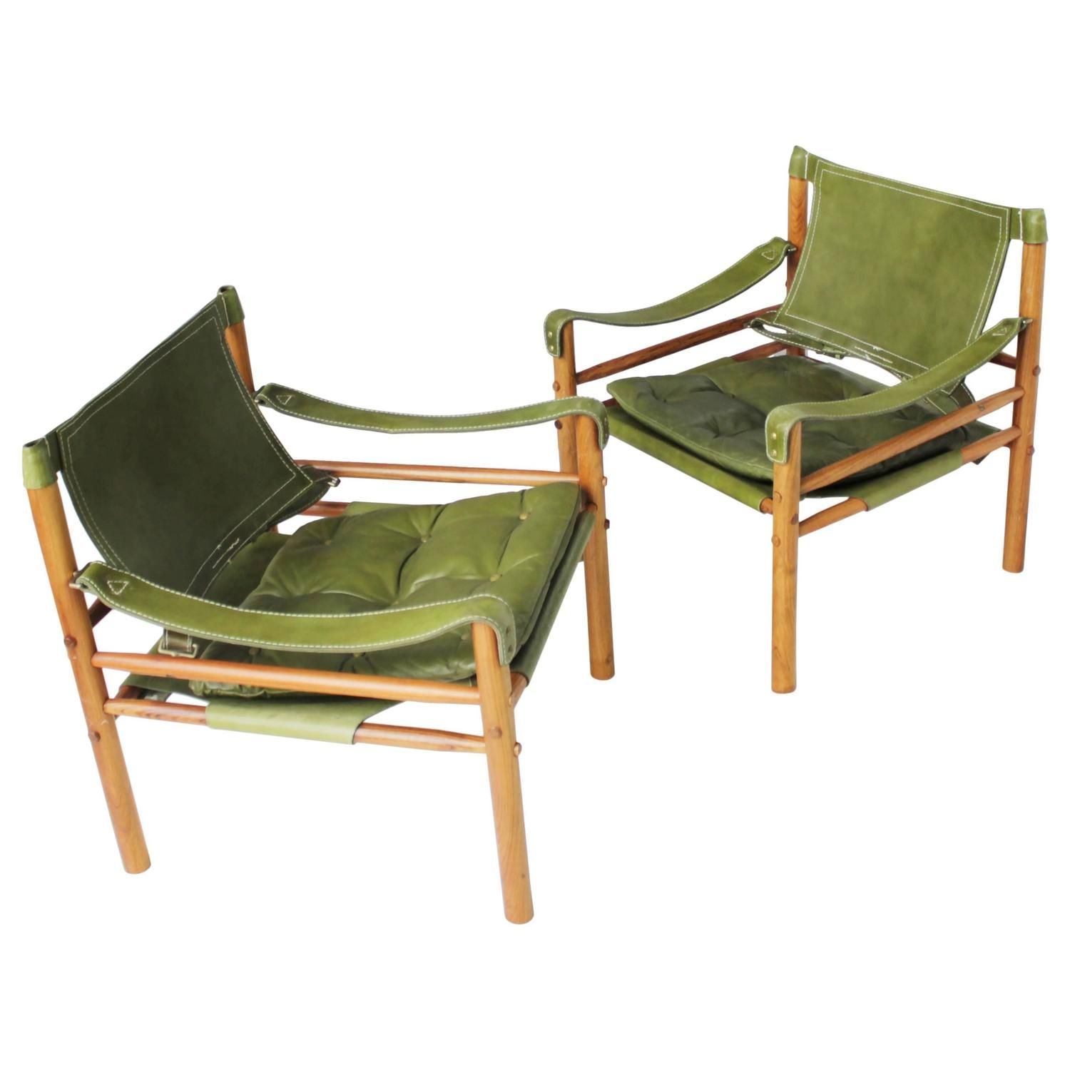 Pair of Scirocco Safari Chairs by Arne Norell