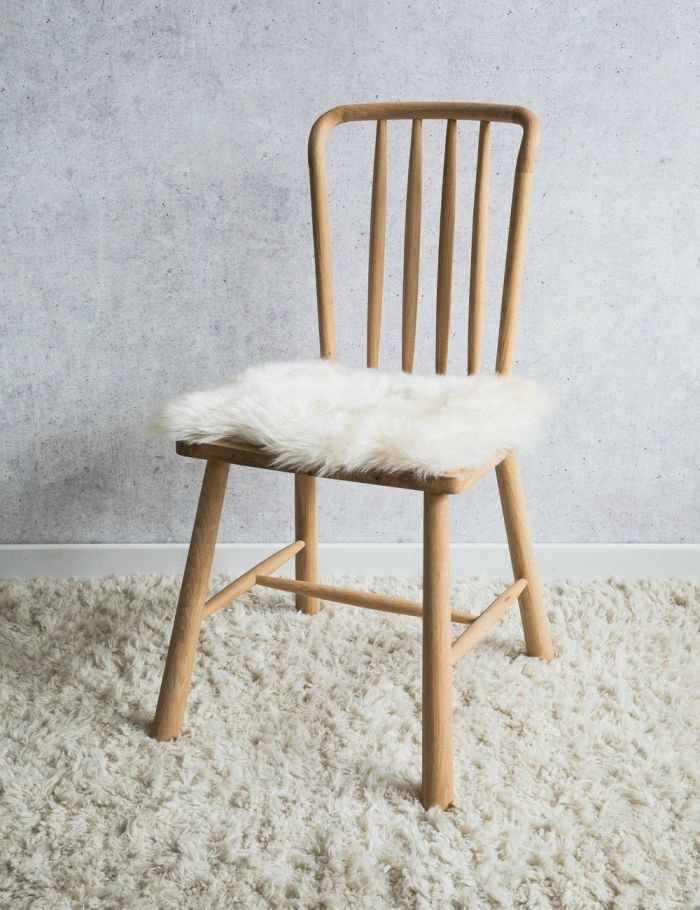 Australian Longhaired Sheepskin Chair Cushion Champagne