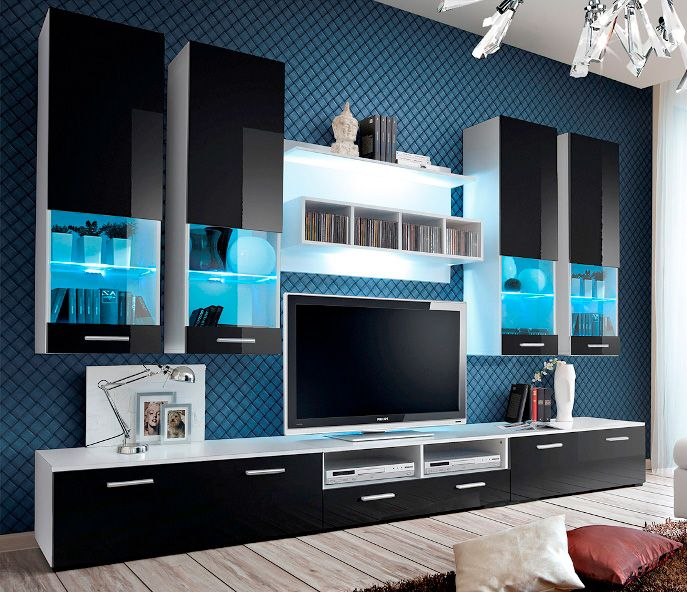 montreal 2 meuble tv haut meubles tv moderne pinterest meuble tv modulable meuble tv. Black Bedroom Furniture Sets. Home Design Ideas