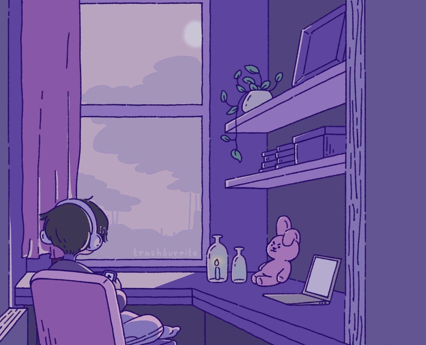 Twitter Com Trashburrito Aesthetic Anime Dark Purple Aesthetic Lavender Aesthetic Anime wallpaper aesthetic gif