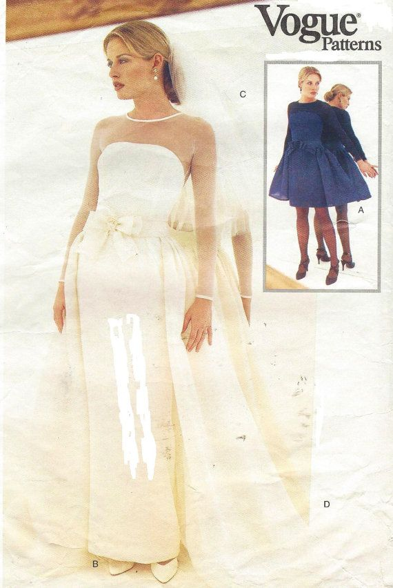 Vera Womens Wedding Gown With Overskirt Long Or Short Bridal Collection Vogue Sewing Pattern 1583 Size 14 16 18 Bust 36 38 40