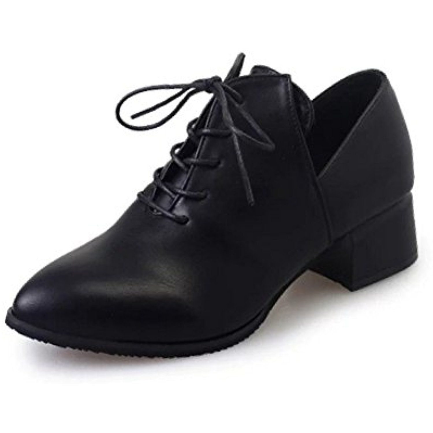 61c0e94d03 Women Pointed Toe Lace-Up Chunky Heel Oxford Shoes * Continue to the  product at the image link. (This is an affiliate link) #Oxfords
