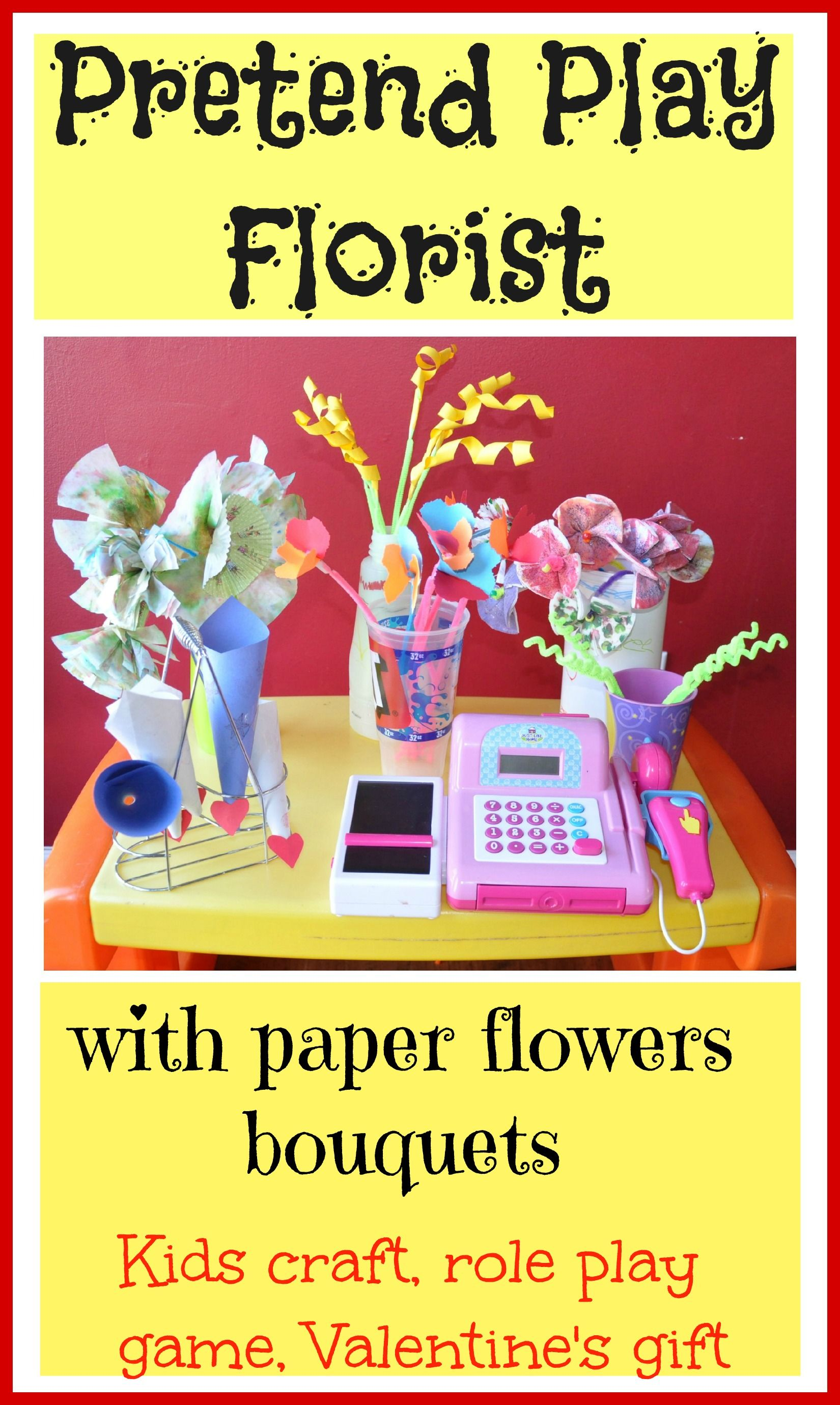 Craft paper flowers first role play as a florist next tons of craft paper flowers first role play as a florist next tons of potential in this activity also the paper flowers bouquets could make great valentines day mightylinksfo