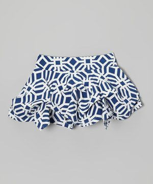 This Trish Scully Child Navy Tile Tuck Skirt - Toddler & Girls by Trish Scully Child is perfect! #zulilyfinds