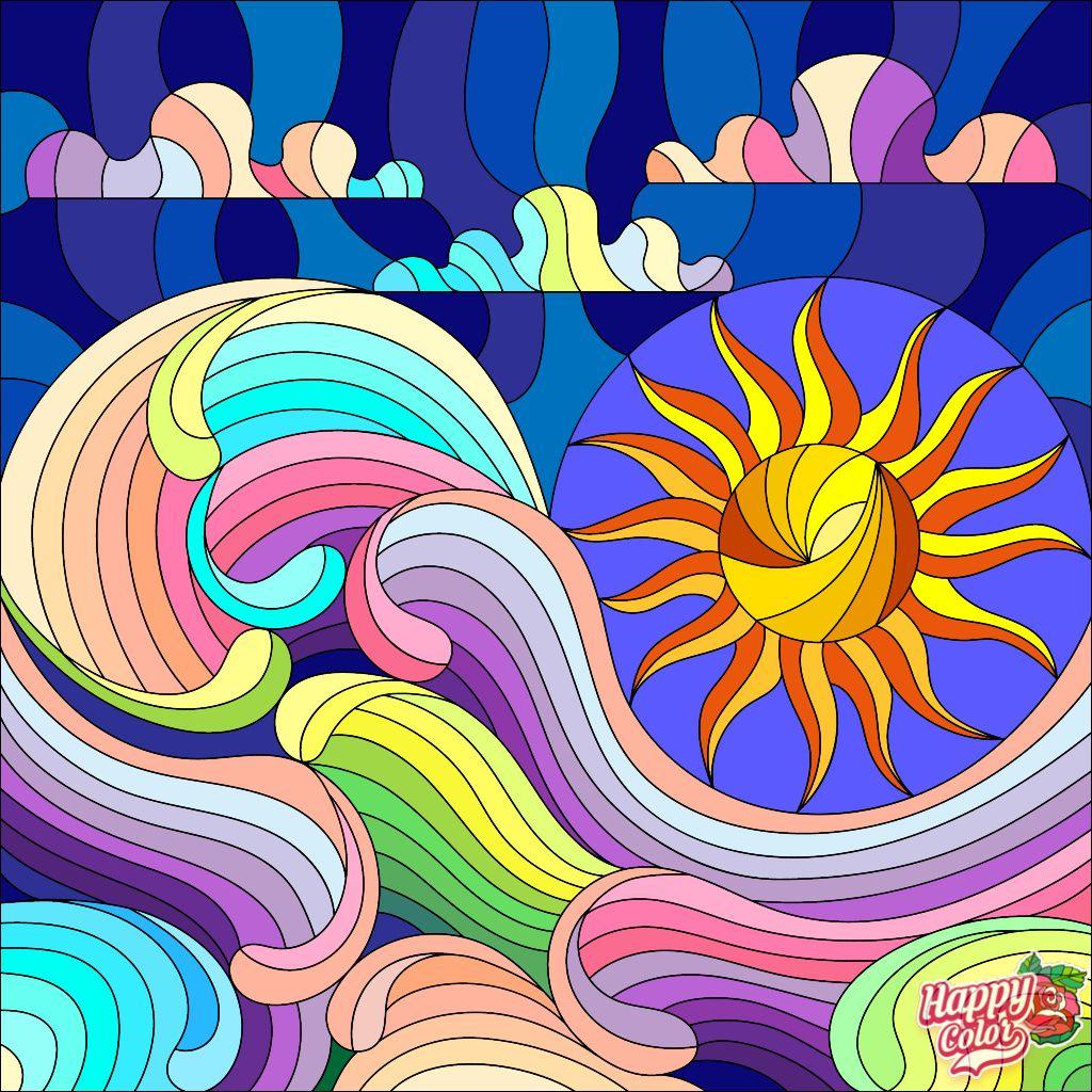 Happycoloringbook Colorful Colors Coloringbook Via Happy Color App For Ipad Happycolorapp Bunte Kunst Wenn Du Mal Buch Frohliche Farben