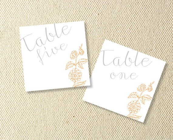 Printable Floral Wedding Table Numbers by KitsonPress on Etsy, $15.00