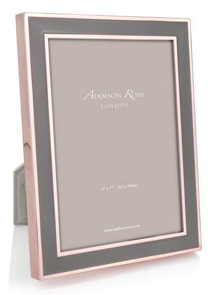Addison Ross Rose Gold Taupe Picture Frame 5x7 In 2020 Gold Framed Mirror Picture Frames Gold Photo Frames