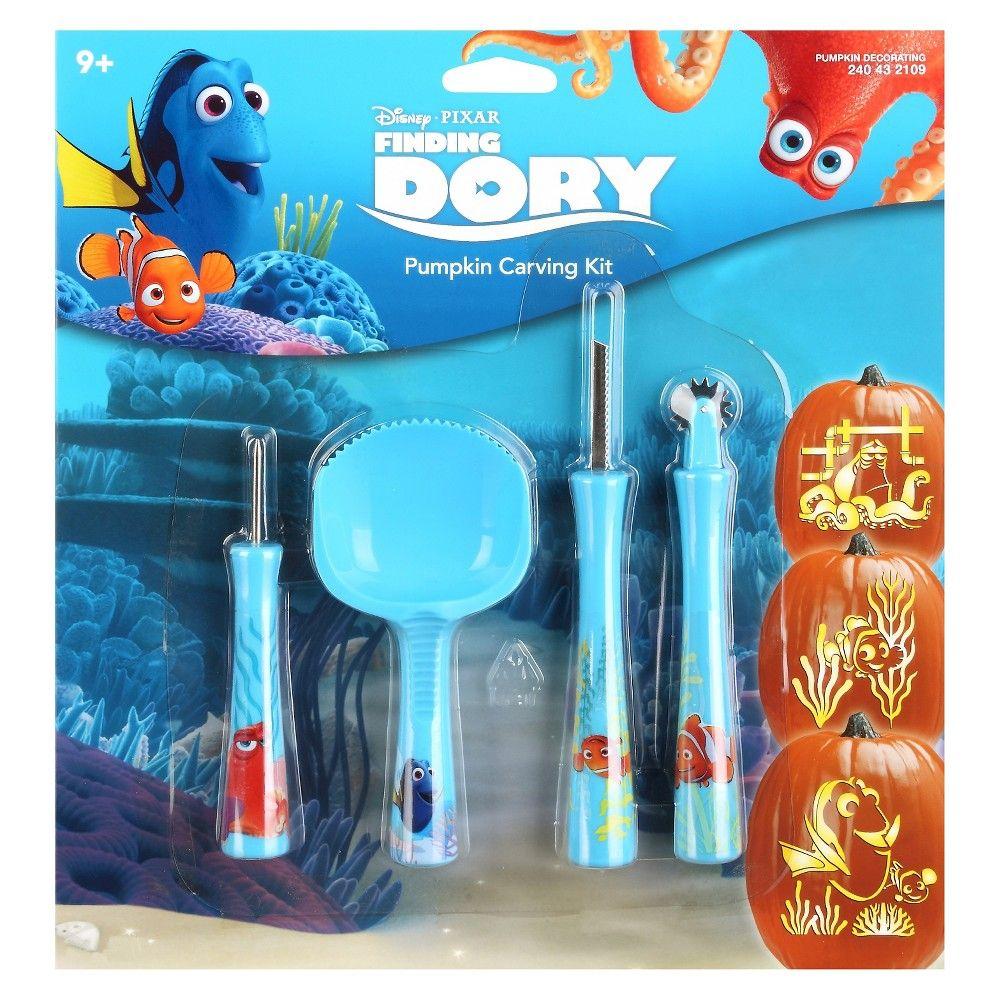 disney pumpkin carving kit. disney dory halloween pumpkin carving kit, kit a