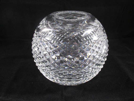 Waterford Crystal Glandore 6 Rose Bowl Vase Waterford Crystal Christmas Bulbs Rose Bowl