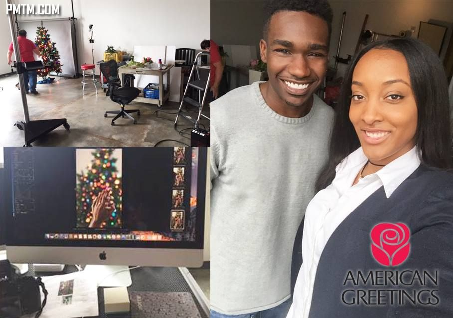 Danielle and Anthony on set for an American Greetings print ad! They look fabulous! Awesome job guys! #PMTM #AmericanGreetings #printadmodel