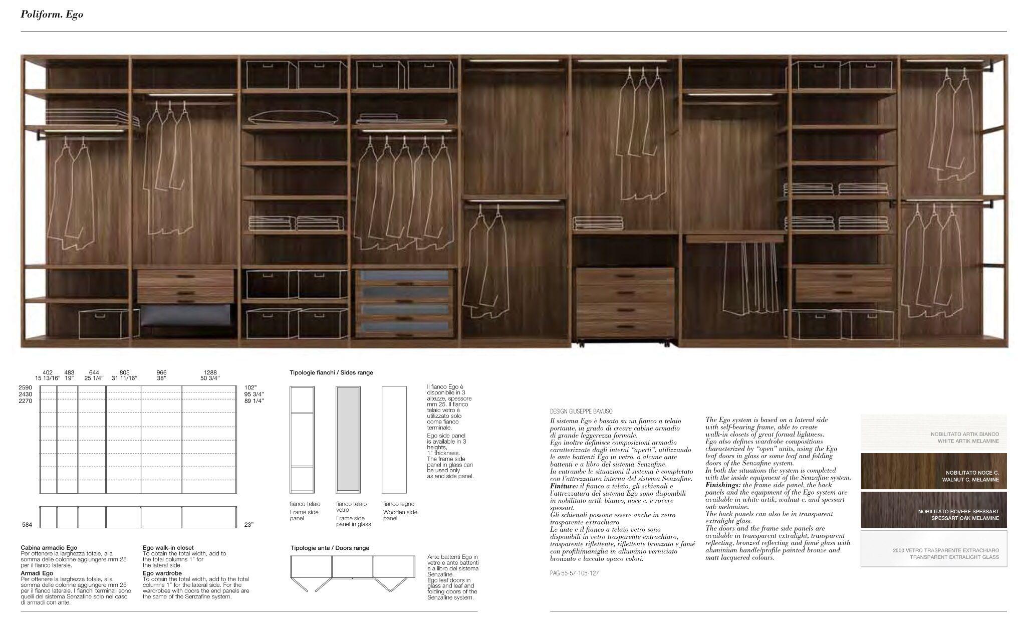 Cabina Armadio Ego Poliform : Poliform design details gardrób
