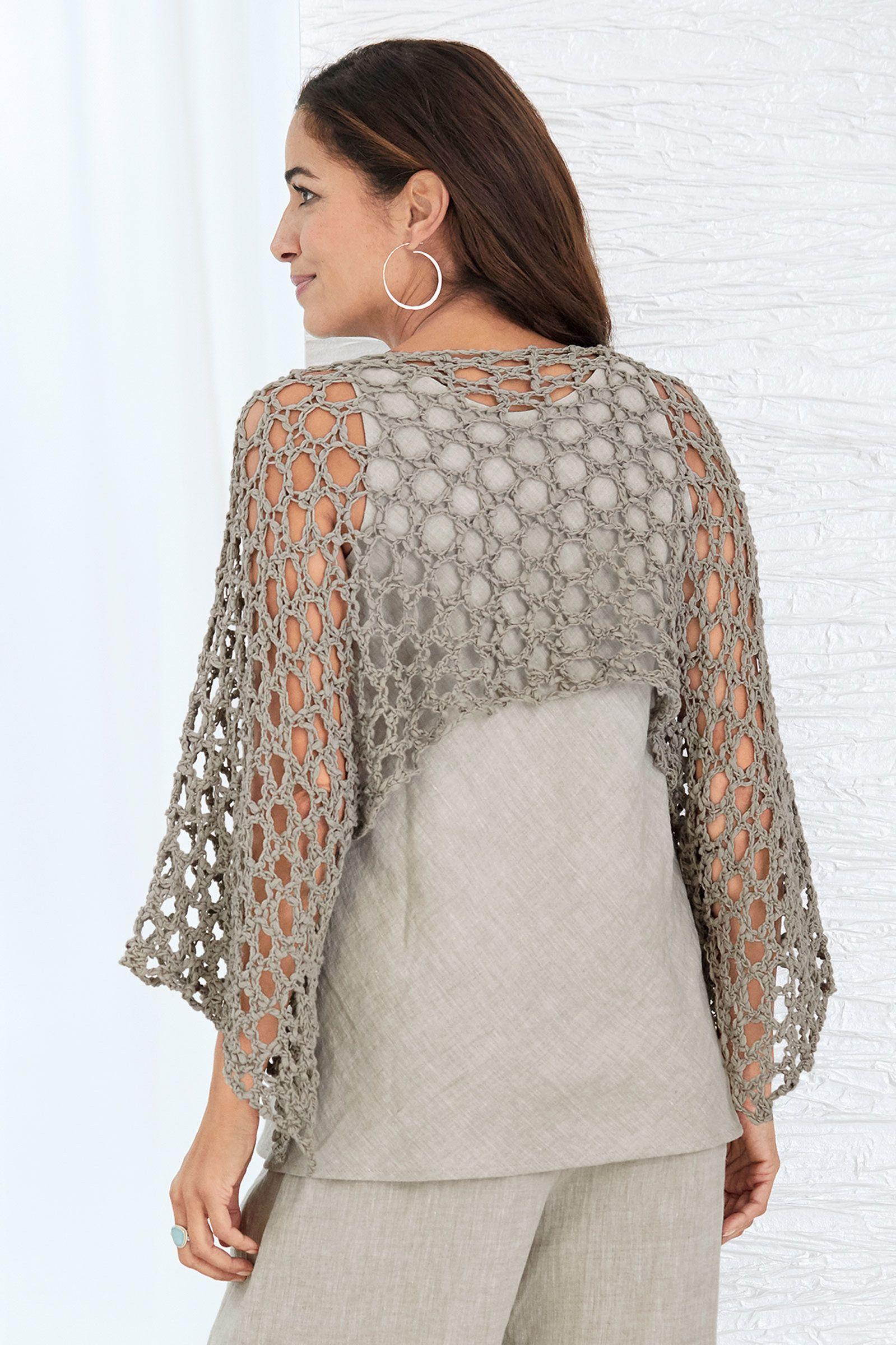 Mykonos Shrug by Go Lightly (Knit Shrug   crochet   Pinterest ...