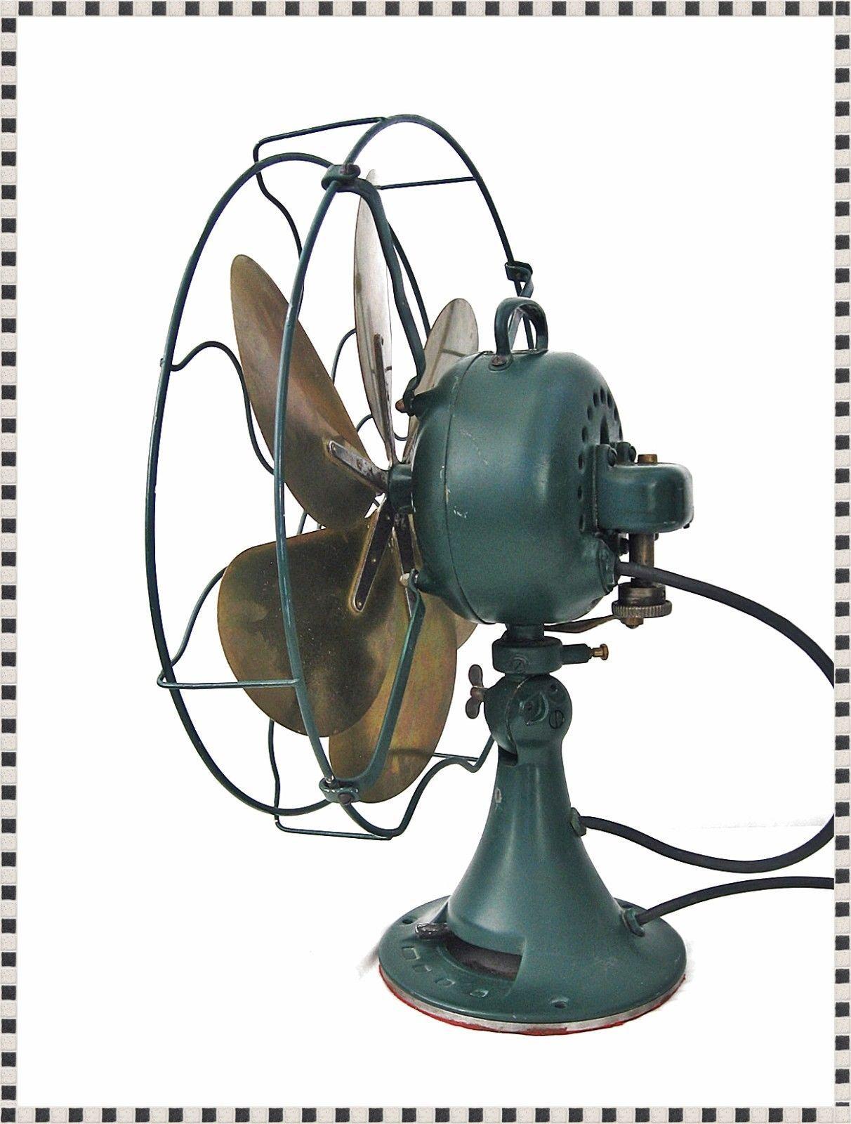 Vintage 1920 S 16 Emerson Electric Oscillating 3 Speed 6 Brass Parker Blade Fan Antique Fans Emerson Electric Fan Blade Art