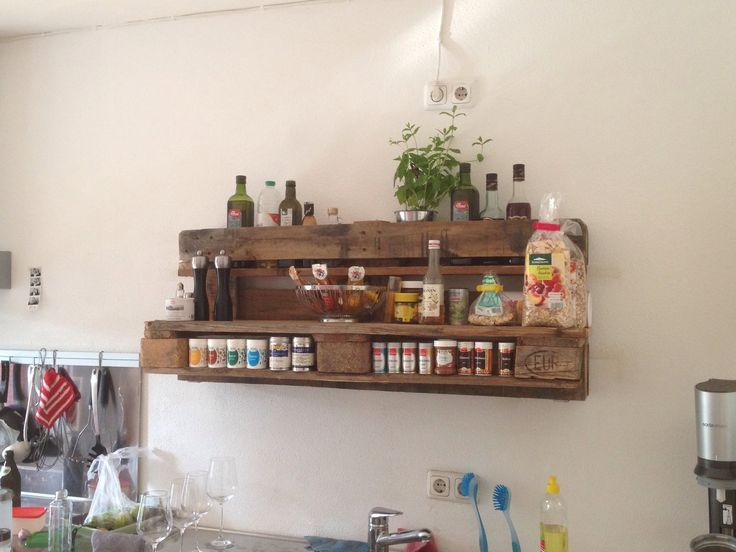 Gewürzregal im Euro-Paletten-Style Küchentraum Pinterest - küche aus europaletten