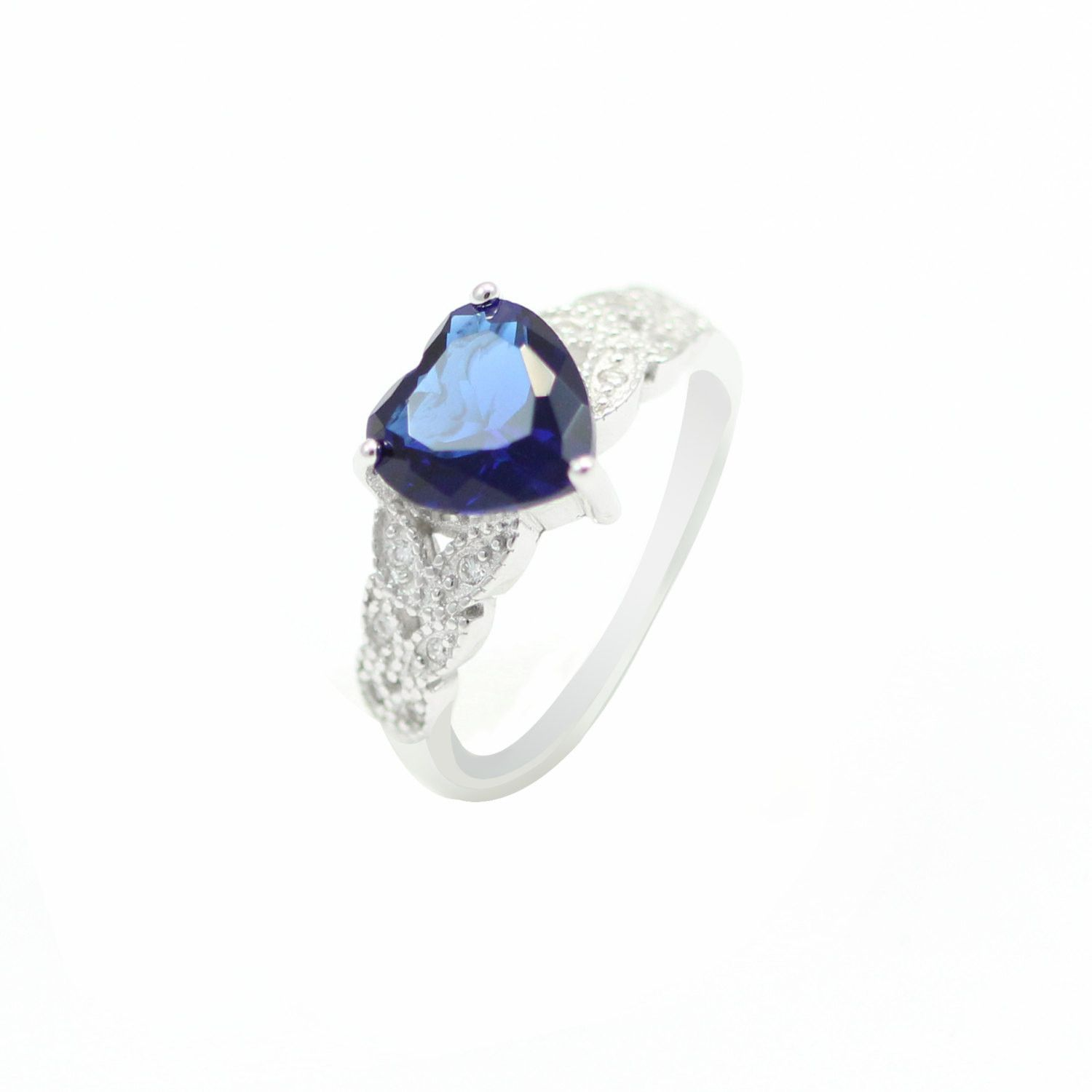 ctw products diamond cocktail floral dsc sapphire ring sz solitaire