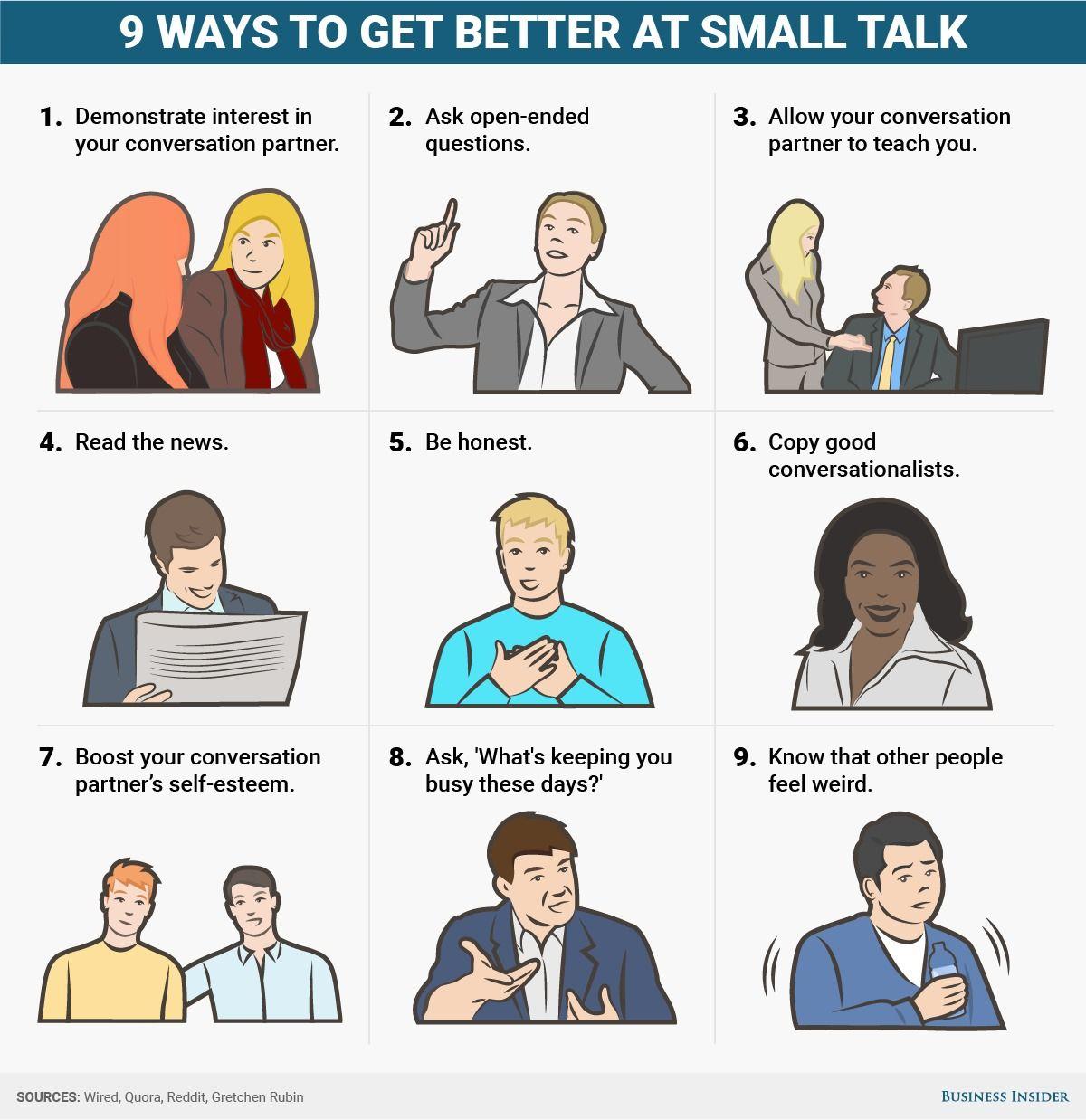 9 ways to get better at small talk small talk reading