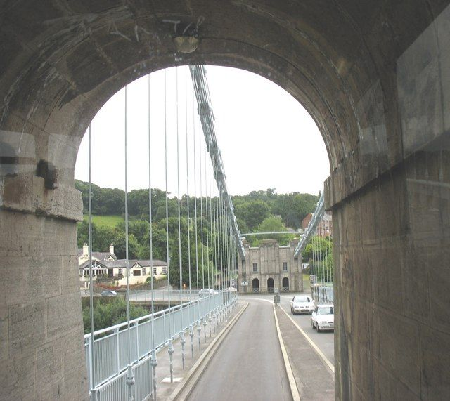 Passing through the south tower of Pont y Borth