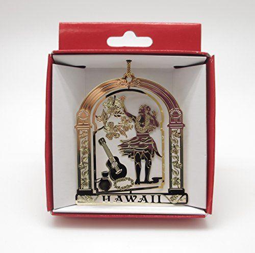 Hawaii Hula Dancer Brass Christmas ORNAMENT - Great Christmas Gift