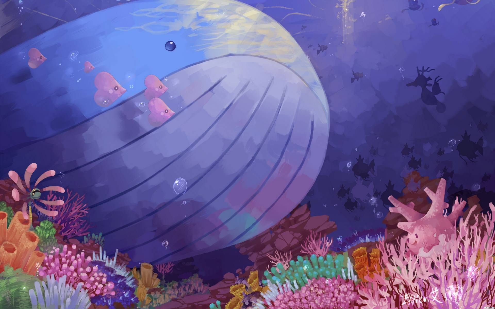 Wailord Wallpaper from Pokemon. the sea | ポケモン | Pinterest ... Wailord Wallpaper