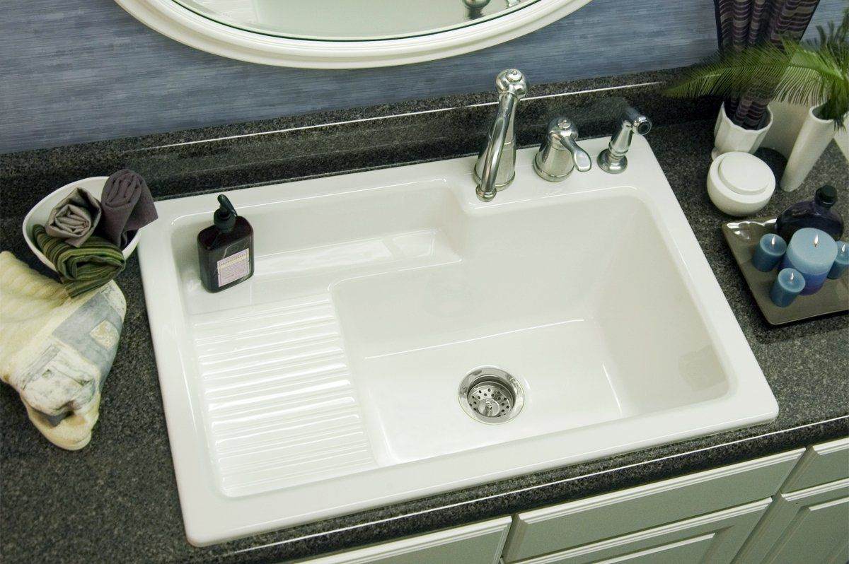 View The Corstone 652 Hamilton Self Rim Laundry Sink With Recessed