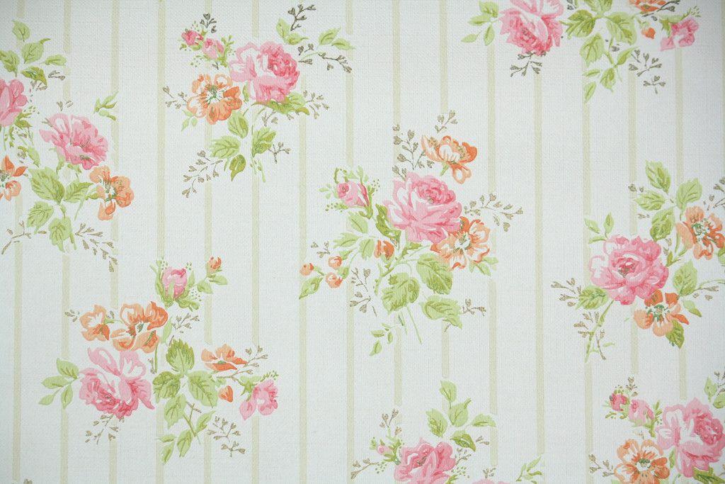 H 1960s Floral Vintage Wallpaper Wallpaper Pinterest Vintage
