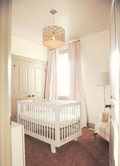 Cream And Gold Elegant Classic Baby Girl Nursery Room Chandelier In Gold Images