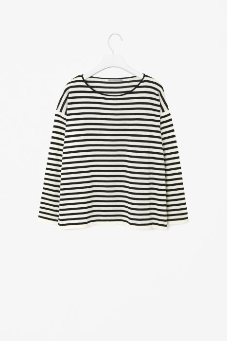 Wide-cut stripe top From Cos in Paris where everything is classic