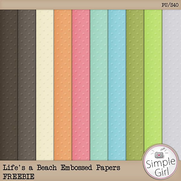 Life's a Beach Embossed Papers  DOWNLOAD