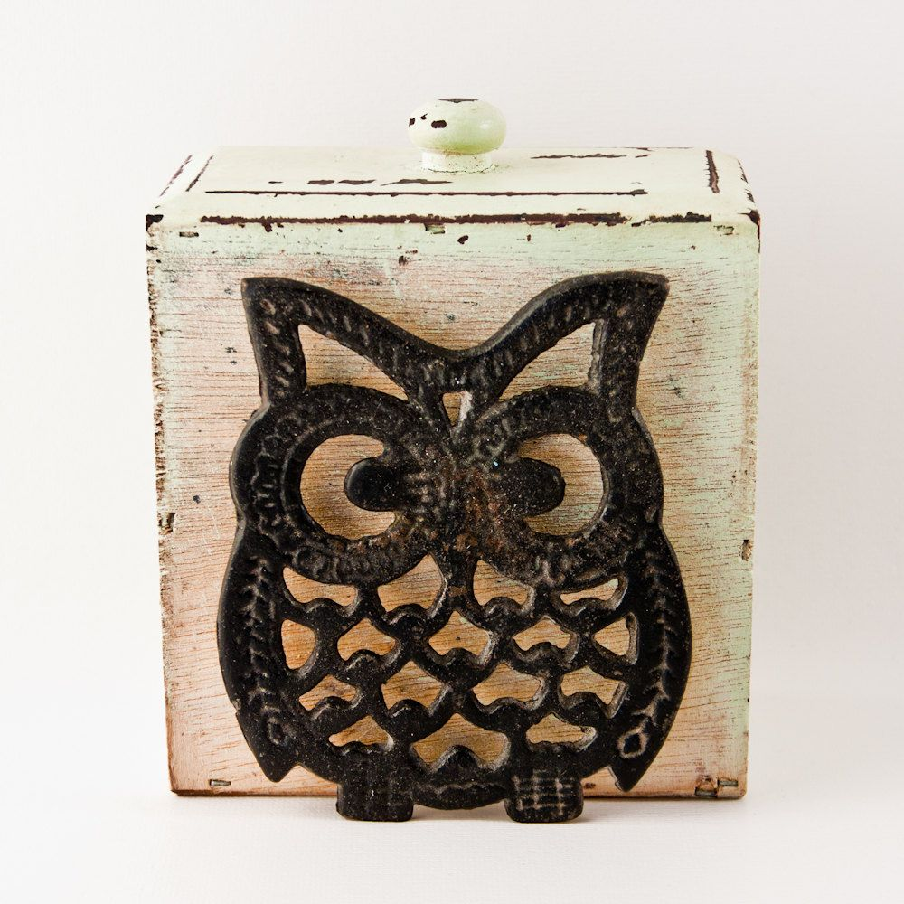 Nice Owl Stuff For The Home Part - 11: Vintage Owl Pot Holder Housewares, Home Decor, Retro Owl, Kitchen Decor,  Kitchenware