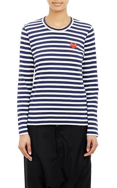 da0e7626996d We Adore  The Striped Long-Sleeve T-Shirt from Comme des Garçons PLAY at  Barneys New York