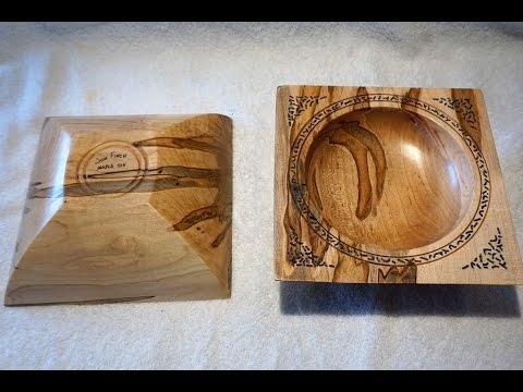 262 Turning Double Axis Square Bowls Youtube Wood Work