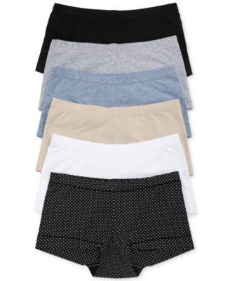 33ce12b9c870 Maidenform Dream Cotton Tailored Boyshort DM0002 - Black w/ White Dot XL