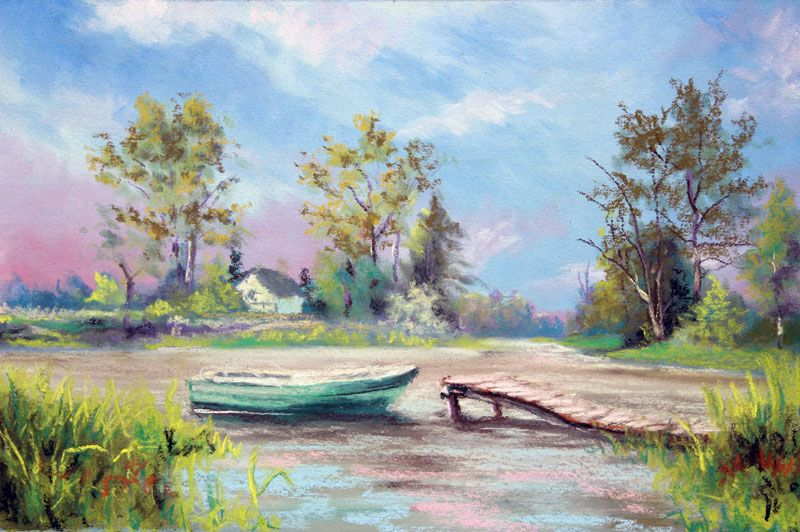 How To Use Panpastels With Traditional Soft Pastels Pastel Landscape Landscape Painting Tutorial Landscape Paintings