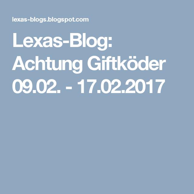 Lexas-Blog: Achtung Giftköder 09.02. - 17.02.2017