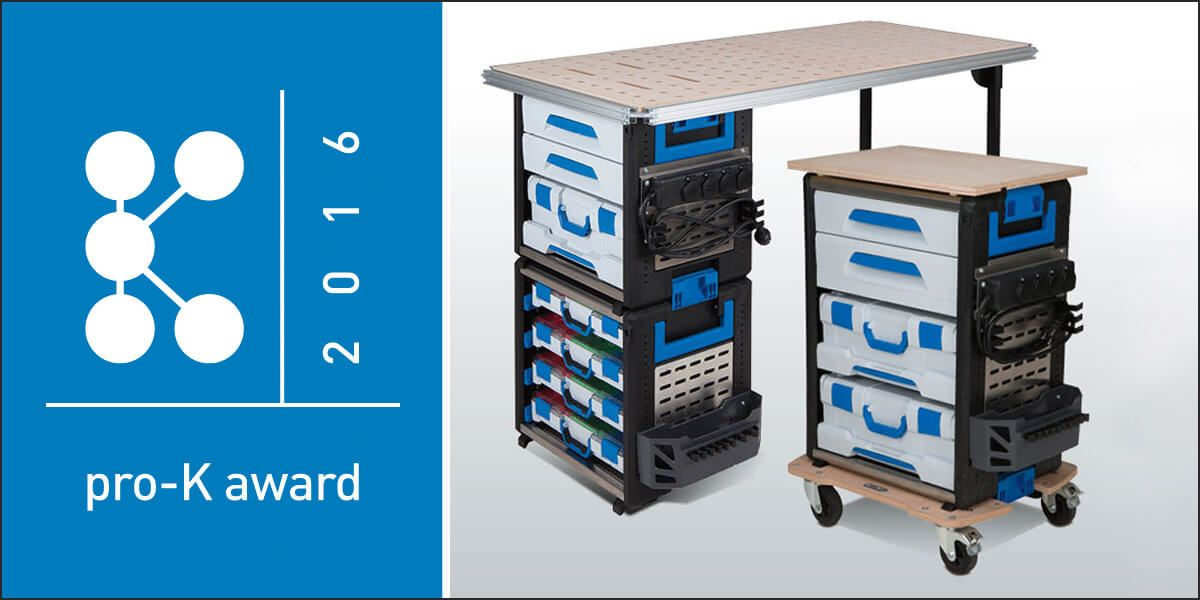 Sortimo Workmo Award Winning Workstation Locker Storage Mobile Storage Shelving Solutions