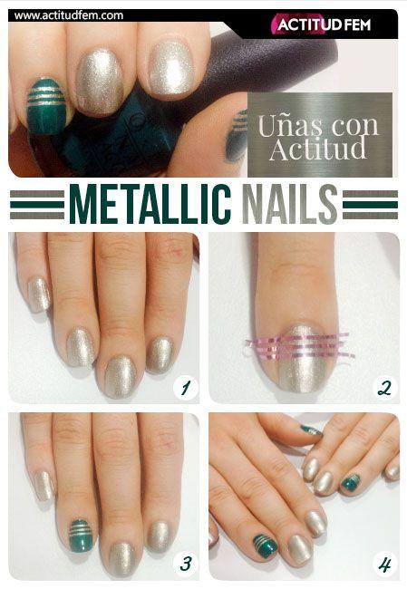 Manicure con rayas [TUTORIAL] | ActitudFEM