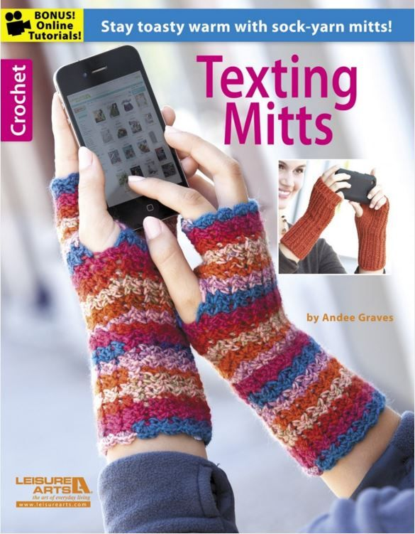 Texting Mitts - great designs for fingerless gloves, by Andee Graves ...