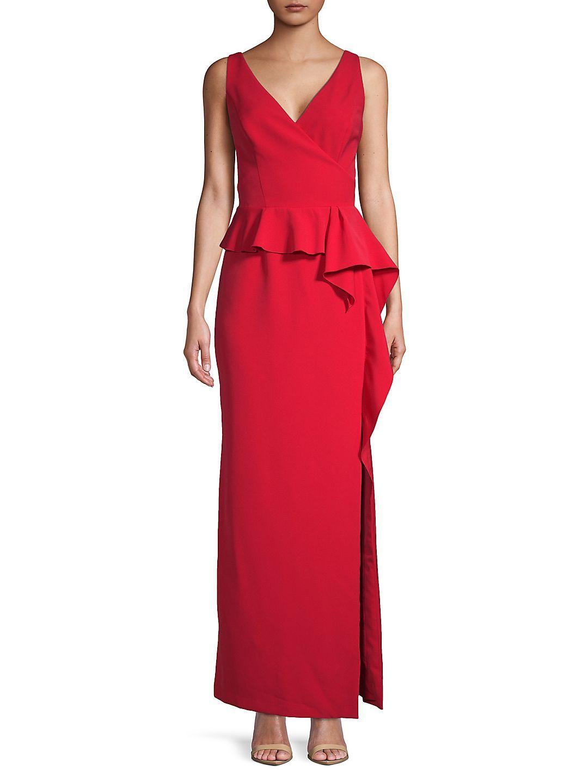 Vince Camuto Ruffled Floor Length Dress Walmart Com Dresses Evening Dresses Floor Length Dresses [ 1440 x 1080 Pixel ]