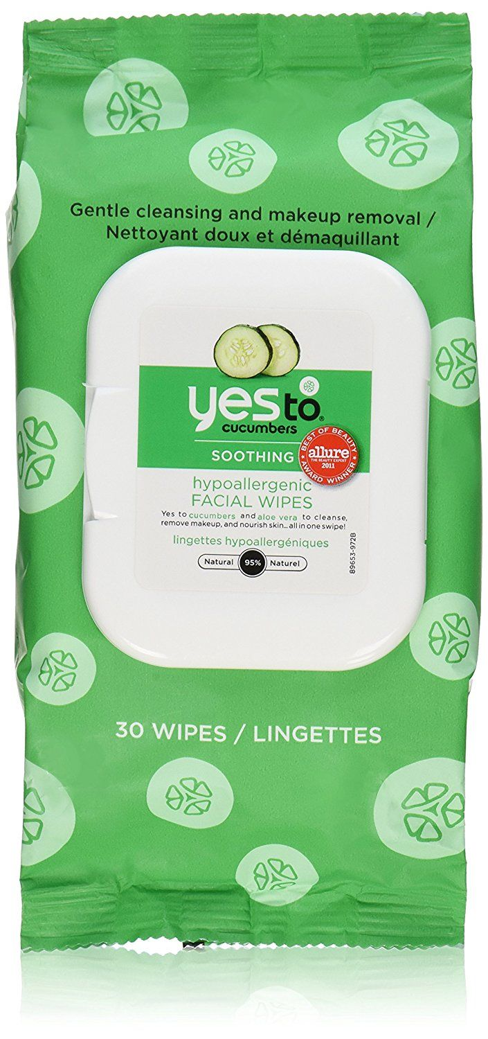Yes To Cucumber Soothing Hypoallergenic Facial Wipes, 30