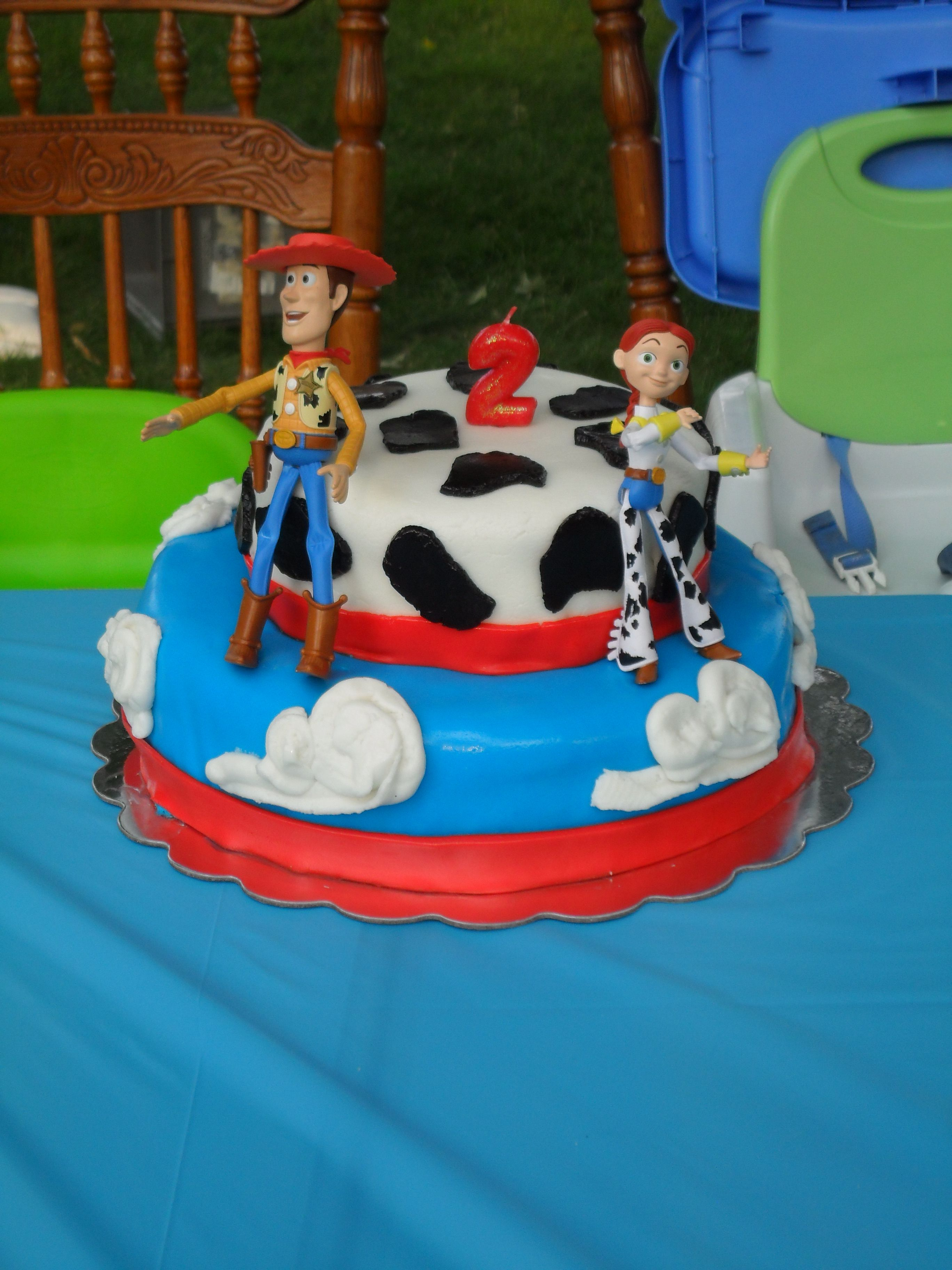 Woody And Jessie Birthday Cake For Joint Boy Girl Birthday