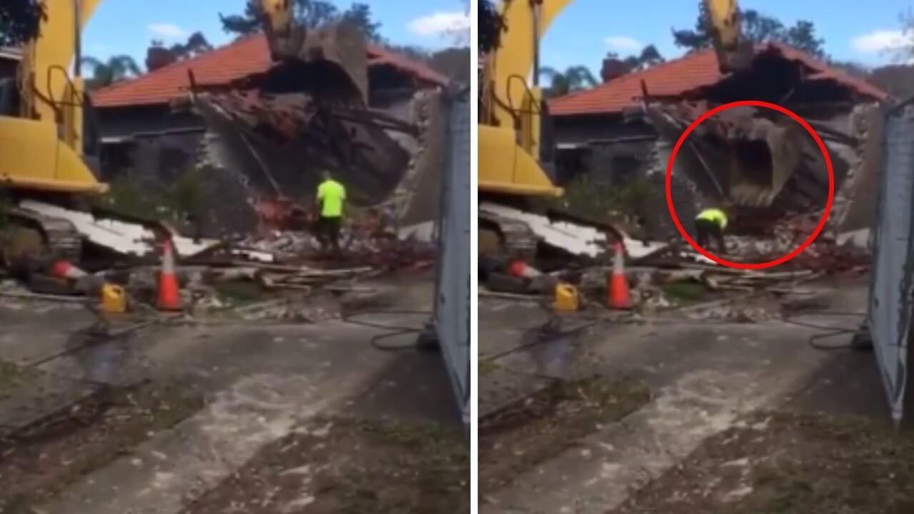 Dieser Bauarbeiter ist unachtsam, doch das soll ihm eine Lehre sein!
