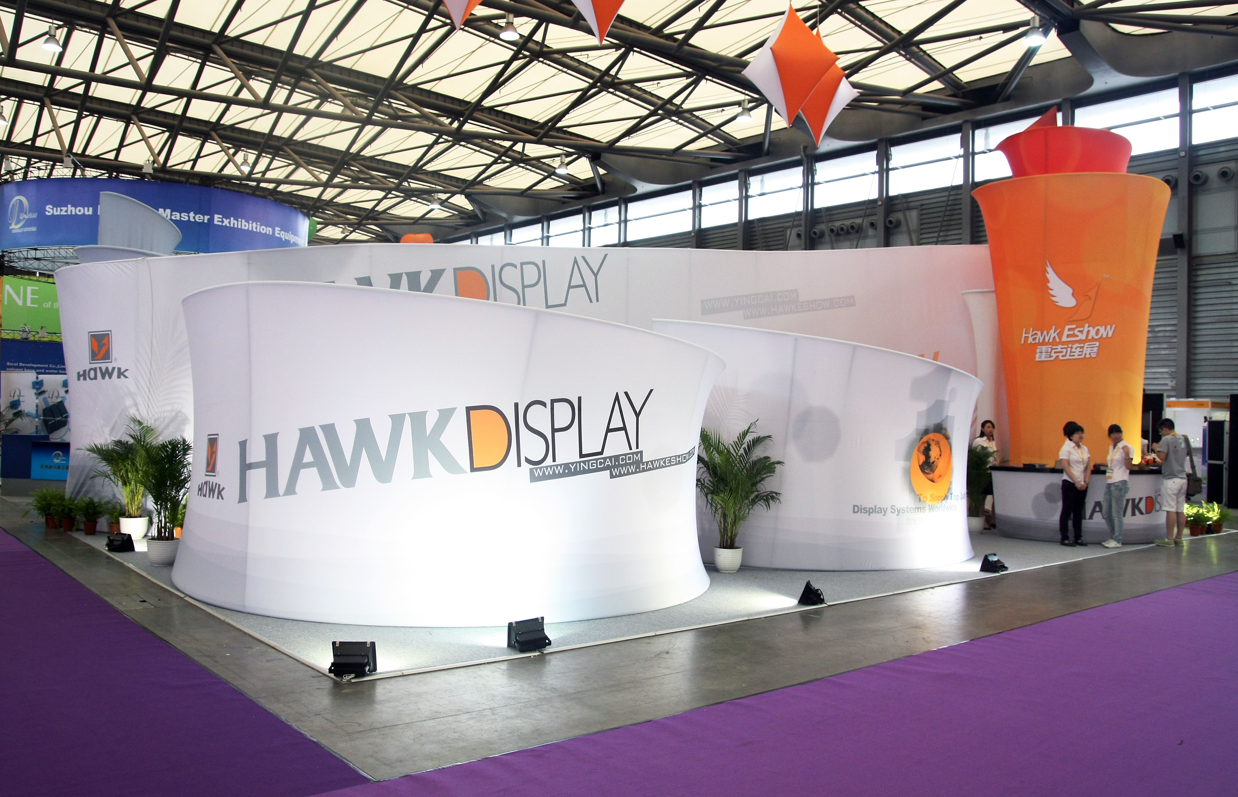 Exhibition Stand Banner Design : Trade show booth design of hawk display in past