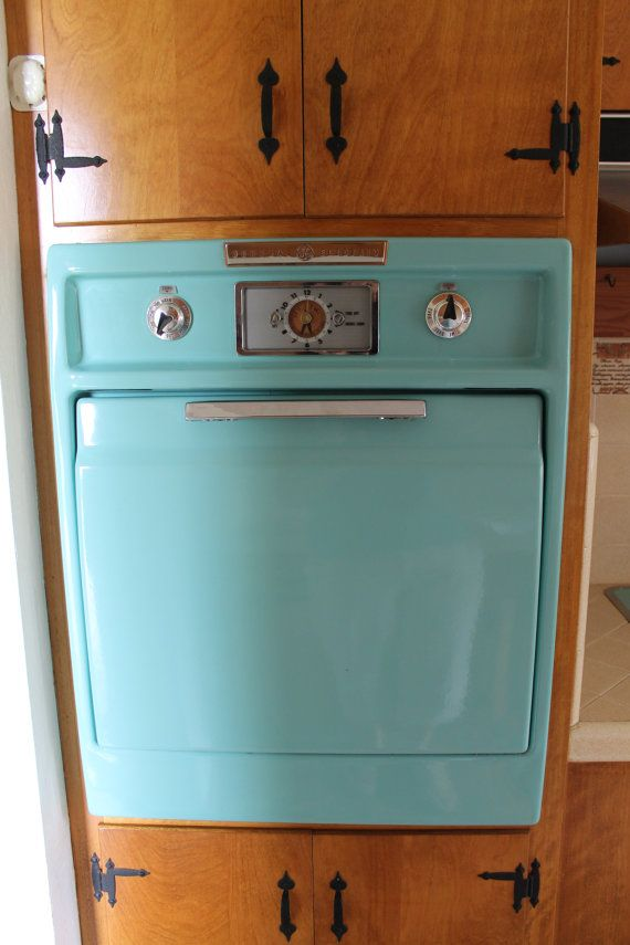 Vintage 1950s Ge Aqua Wall Oven And Counter By Vintagegeliances