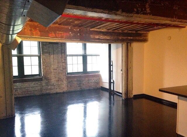 empty studio apartments. Empty studio loft  Before I moved in Fulton cotton mill lofts