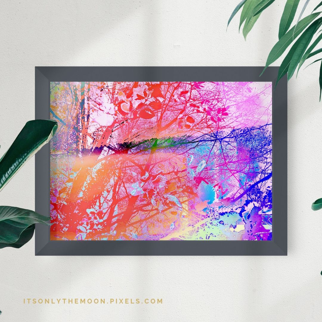 Need some home deco inspo? Art prints are a great way to add some art to your home.  Is color your thing? Check out my under the trees colorful artwork, art prints available to view and order from my website itsonlythemoon.pixels.com   🔗✨link in bio✨   ✨ Also available at @shoppixels & @fineartamerica ⠀ #botanicalart #landscapeart #abstractlandscapes #fineartamerica #abstract_art #abstractphotography #abstractphoto #abstractartist #colorcrushcreative #homedecorinspo #apartmenttherapy
